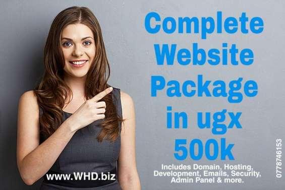 Affordable complete website package