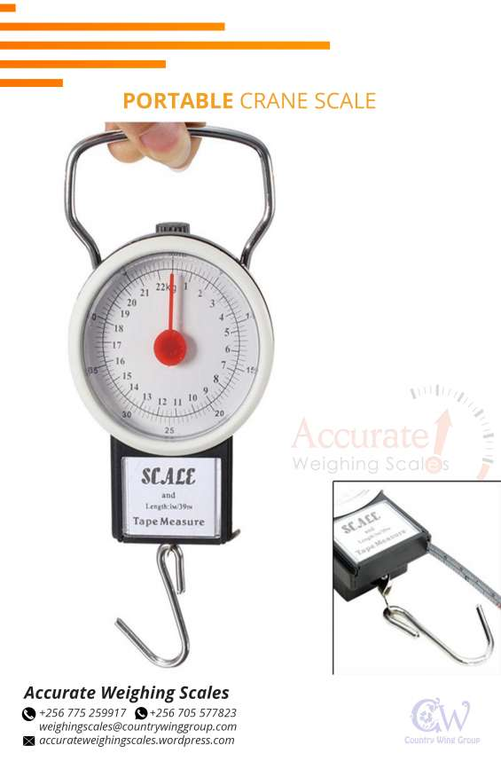 Where can i get various portable crane scales kampala wandegeya?