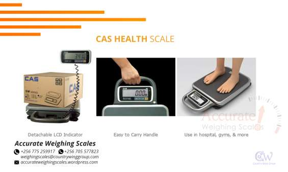 What is the price of health scales with various capacities wandegeya, uganda?