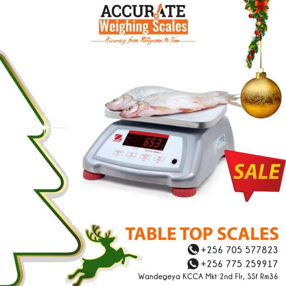 What is the cost of table top weighing scales in kampala uganda?