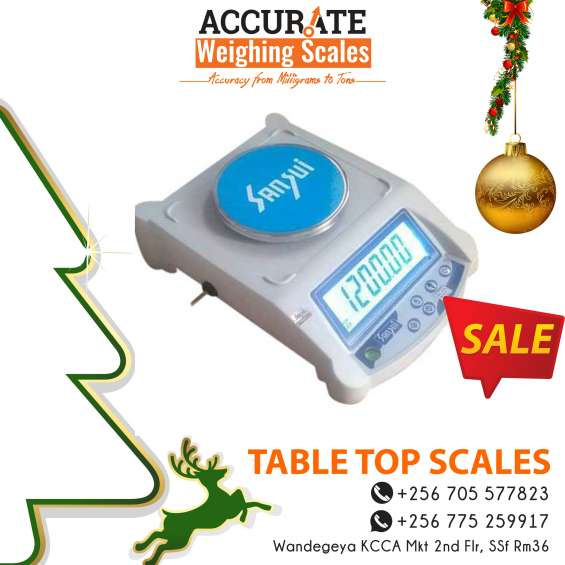 What is the price of table top weighing scales in kampala uganda?