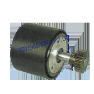 Power brake, web aligner unit, web guide system