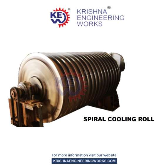 Leading manufacturer, exporter & supplier of spiral cooling roll at best price