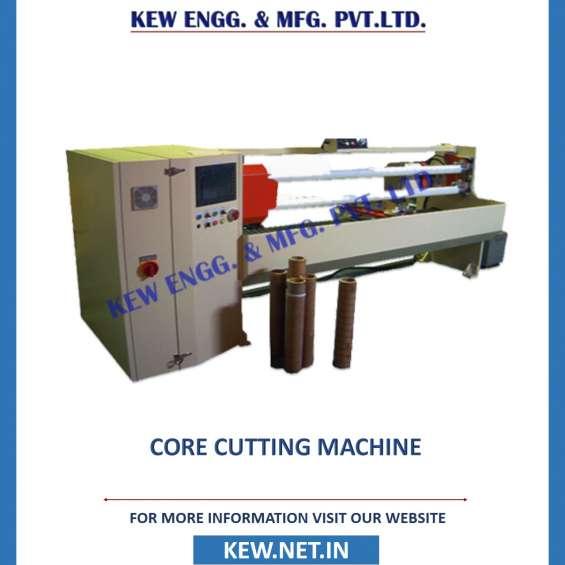 Manufacturer of core cutting machine, paper core cutter machine at best price